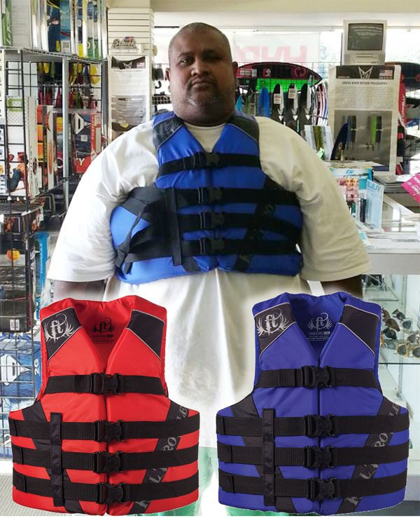 "Full Throttle Oversized Life Vest 2XL-7XL up to 70"" Chest"